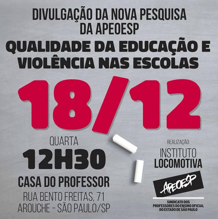 Pesquisa indica aumento de casos de violência contra alunos e professores nas escolas públicas de São Paulo