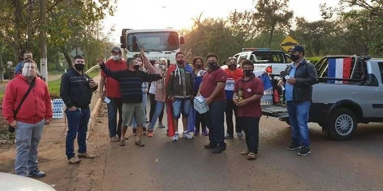 Paraguaios fazem mobilização pela reabertura das fronteiras com o Brasil