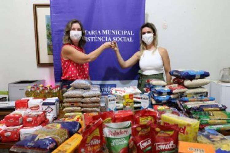 Profissionais de salvamento e segurança doam alimentos para famílias carentes de Três Lagoas