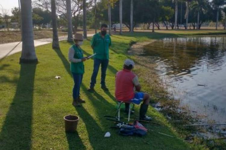 Secretaria de Meio Ambiente realiza fiscalização na Lagoa Maior para inibir pesca ilegal
