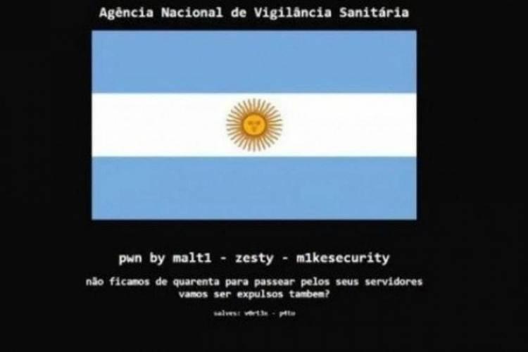 Site da Anvisa é invadido por hackers argentinos em ato de provocação